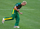 Gerard Denton celebrates one of his three early wickets, Victoria v Tasmania, FR Cup final, Melbourne, February 28, 2010