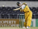 Michael Clarke lofts over the top, New Zealand v Australia, 2nd Twenty20 international, Christchurch, February 28, 2010
