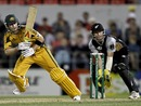 Michael Clarke plays through the leg side, New Zealand v Australia, 2nd Twenty20 international, Christchurch, February 28, 2010