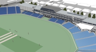 An image of the proposed developments to the County Ground in Bristol, March 3, 2010