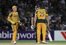 Mitchell Johnson and Scott Styris get heated, New Zealand v Australia, 1st ODI, Napier, March 3, 2010