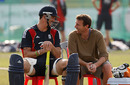 Kevin Pietersen and Mike Atherton share a laugh, Chittagong, March 4, 2010