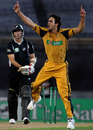Mitchell Johnson is excited after bowling Shane Bond, New Zealand v Australia, 2nd ODI, Auckland, March 6, 2010