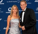 Shaun Pollock with his wife Patricia Lauderdale at the Laureus Sports Awards 2010
