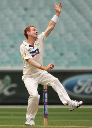 Andrew McDonald struck a crucial double blow, Victoria v Queensland, Sheffield Shield final, MCG, March 18, 2010