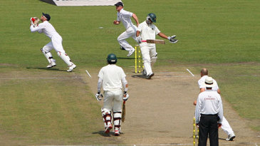 Tamim Iqbal's scintillating innings was ended when he was given out caught off James Tredwell