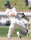 Phillip Hughes ducks under a ball during his brutal display, New Zealand v Australia, 1st Test, 5th day, Wellington, March 23, 2010