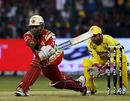 Robin Uthappa plays the reverse sweep, Royal Challengers Bangalore v Chennai Super Kings, IPL, Bangalore, March 23, 2010