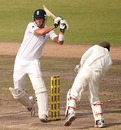 Kevin Pietersen became increasingly positive during his innings, Bangladesh v England, 2nd Test, Dhaka, 5th day, March 24, 2010