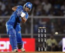 Shikhar Dhawan drives during his fifty, Mumbai Indians v Chennai Super Kings, IPL, Mumbai, March 25, 2010