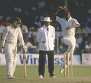 Curtly Ambrose bowls, West Indies v Australia, 4th Test, Barbados, April 19, 1991