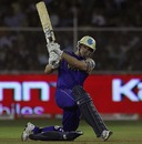 Michael Lumb sweeps powerfully, Rajasthan Royals v Deccan Chargers, IPL, March 26, 2010