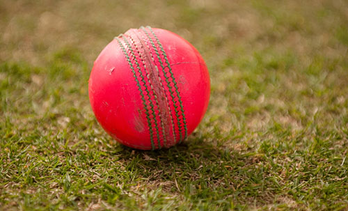 The pink ball had its first outing in first-class cricket