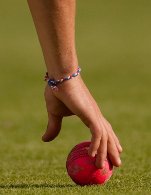 The pink ball was used for the first time in English first-class cricket in Durham's game against MCC, MCC v Durham, Abu Dhabi, March 29, 2010