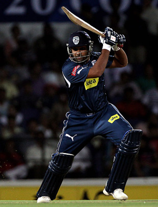 Rohit Sharma punches one through the off side, Deccan Chargers v Rajasthan Royals, IPL 2010, Nagpur, April 5, 2010