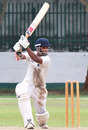Geeth Alwis drives through the off side during his century, Wayamba v Ruhuna, Inter-provincial tournament, Colombo, Apr 3-6, 2010