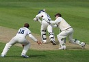 Steven Davies juggles a catch to remove Paul Borrington, Surrey v Derbyshire, County Championship Division Two, The Oval, April 9, 2010