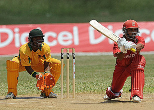 Ashish Bagai sweeps during his 53 against Jamaica, Jamaica v Canada, Twenty20 tour match, Discovery Bay, April 8, 2010