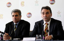 Keith Bradshaw, the MCC chief executive, and Zakir Khan, the PCB's director of cricket operations, announce MCC's sponsorship of this summer's Australia-Pakistan neutral series, April 12, 2010