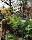 Police search for crude bombs in the area around the Chinnaswamy Stadium, Bangalore, April 18, 2010