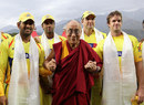 The Dalai Lama meets the cricketers, Kings XI Punjab v Chennai Super Kings, IPL, Dharamsala, April 18, 2010