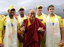 The Dalai Lama meets the cricketers, Kings XI Punjab v Chennai Super Kings, IPL, Dharamsala, April 18, 2010