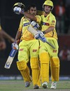 MS Dhoni is pumped after Chennai's win, Kings XI Punjab v Chennai Super Kings, IPL, Dharamsala, April 18, 2010