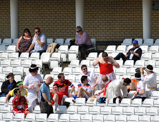 Cricket fans in fancy dress in the stands, Nottinghamshire v Kent, Trent Bridge, April 17, 2010