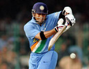 Sachin Tendulkar rides the bounce of a lifter and plays to leg, Pakistan v India, 3rd ODI, Lahore, February 13, 2006