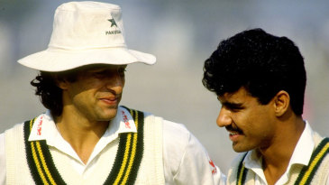 Wasim Akram and Waqar Younis chat