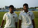 Emon Ahmed and Subashis Roy  walk off after saving Bangladesh A the game, Bangladesh A v South Africa A, Mirpur, April 25, 2010