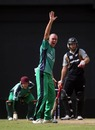Trent Johnston appeals for a wicket, Ireland v New Zealand, ICC World Twenty20 warm-up, Guyana, April 27, 2010