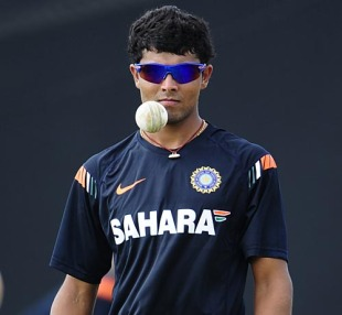Ravindra Jadeja during a training session, ICC World Twenty20, St Lucia, April 30, 2010