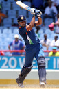 M Vijay drives straight down the ground, Afghanistan v India, World Twenty20, Gros Islet, May 1, 2010
