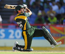 Misbah-ul-Haq goes for the slog, Australia v Pakistan, Group A, ICC World Twenty20, St Lucia, May 2, 2010
