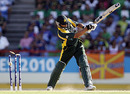 Shahid Afridi has his off stump clipped by Shaun Tait, Australia v Pakistan, Group A, ICC World Twenty20, St Lucia, May 2, 2010