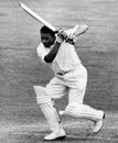 Collie Smith drives, England v West Indies, 3rd Test, Trent Bridge, 5th day, July 9, 1957