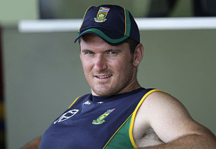 Graeme Smith spares a moment for the camera, Barbados, May 4, 2010