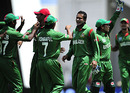 Shakib Al Hasan and gang celebrate an early wicket