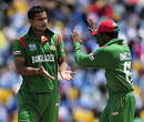 Mashrafe Mortaza celebrates Bangladesh's first breakthrough