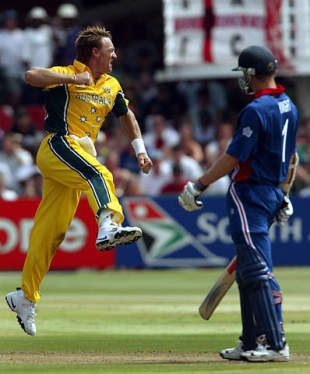 Andy Bichel ripped through England