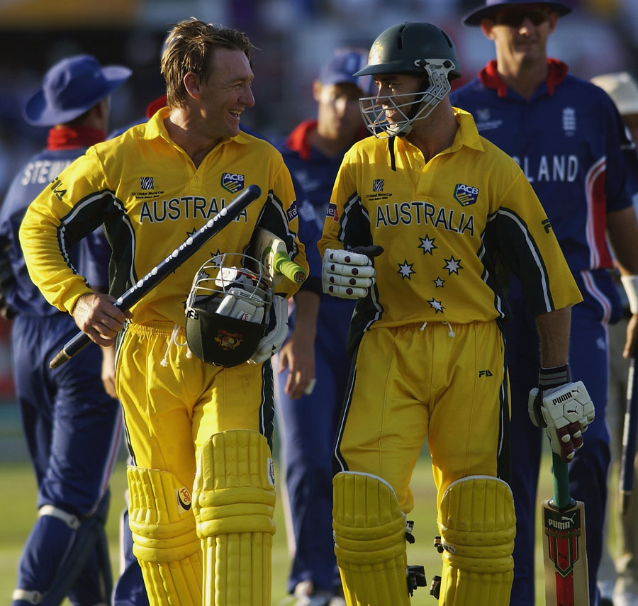 Andy Bichel and Michael Bevan starred in the famous World Cup win against England in 2003