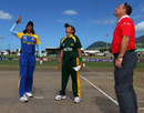 Chamani Seneviratna and Sana Mir at the toss, Pakistan v Sri Lanka, ICC Women's World Twenty20, Basseterre, May 6 2010