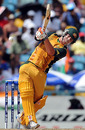 David Warner tries to clear midwicket