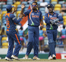 Yusuf Pathan celebrates India's first breakthrough
