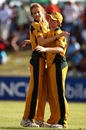 Ellyse Perry picked up two wickets, including Deandra Dottin first ball, as Australia beat West Indies by 9 runs