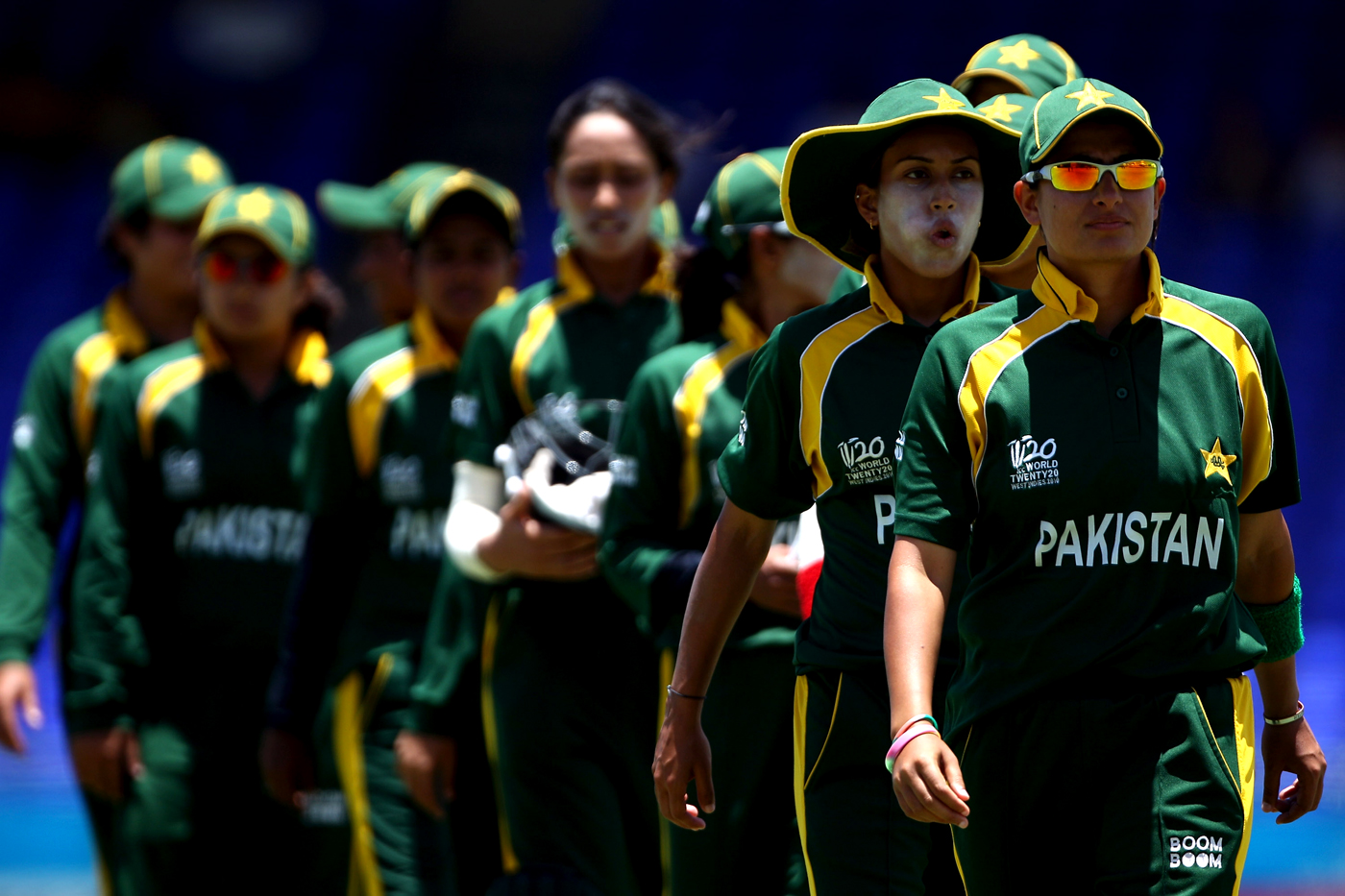 Sana Mir leads her team off the field