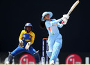 Dilani Manodara looks on as Sulakshana Naik goes big on the leg side