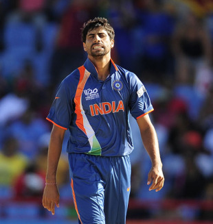 Ashish Nehra conceded 17 runs in the final over, Sri Lanka v India, Group F, World Twenty20, St Lucia, May 11, 2010
