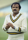 Iqbal Qasim at the nets, The Oval, May 20, 1987